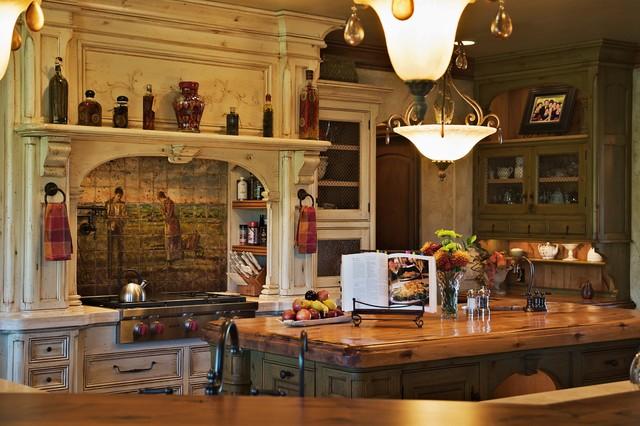 Old world european kitchen for Old world kitchen designs