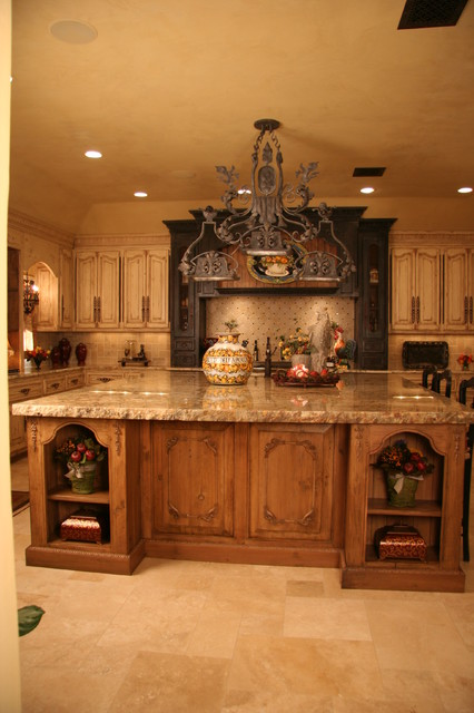 Old world kitchen mediterranean kitchen oklahoma city by monticello cabinets doors Old world tuscan kitchen designs