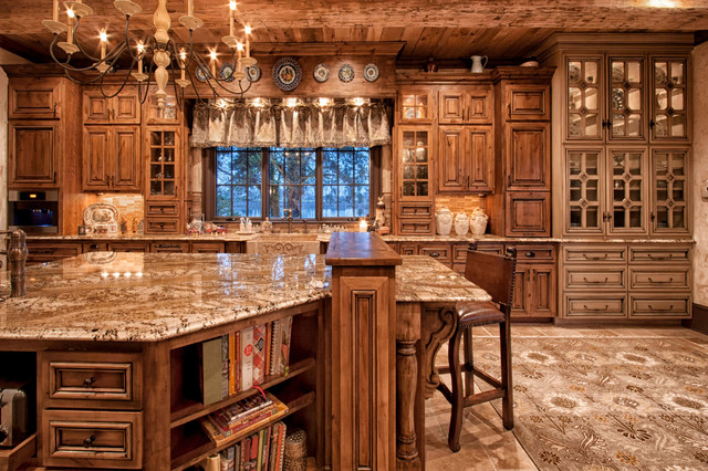 Old World Kitchen - Traditional - Kitchen - charlotte - by Walker Woodworking