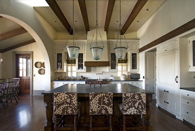 Old World Lakehouse traditional-kitchen