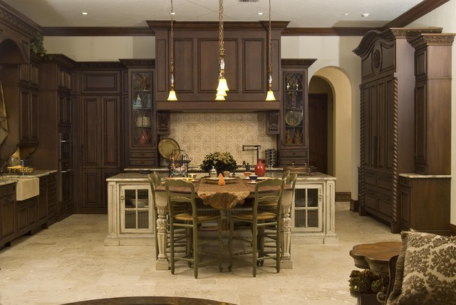Old World Mediterranean Kitchen Tampa By Renaissance Design Studio