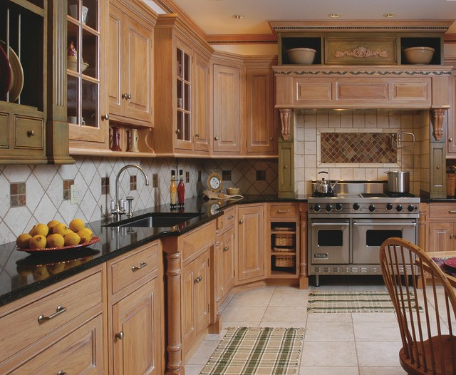 Old World-style Hickory Kithen - Traditional - Kitchen - cleveland ...