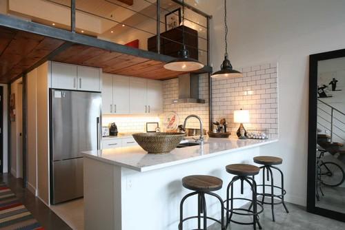 Интерьер в стиле лофт кухни