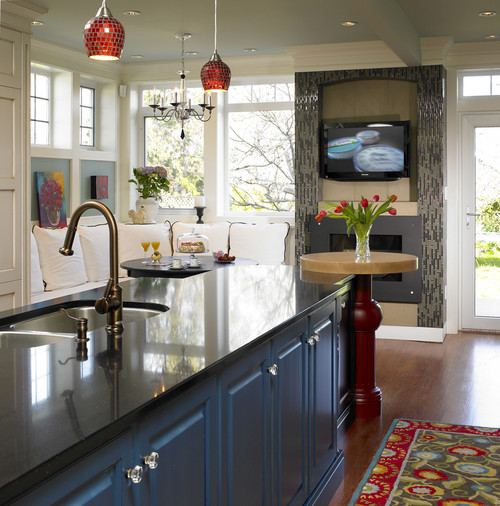 Interior Design Kitchen Traditional: Contemporary Uses For Red, White, And Blue
