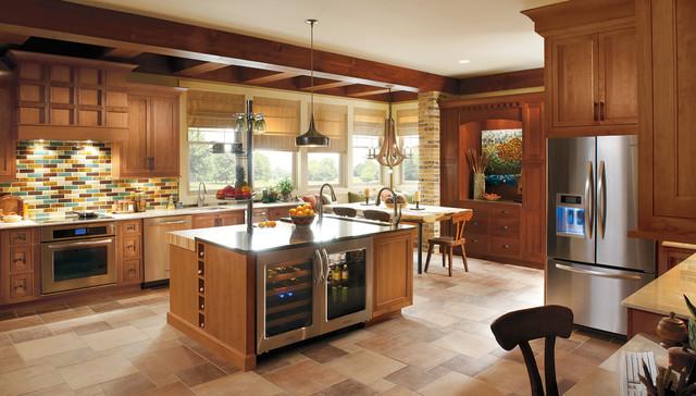 Omega cabinetry utrillo inset non beaded cherry cinnamon for Cinnamon cherry kitchen cabinets