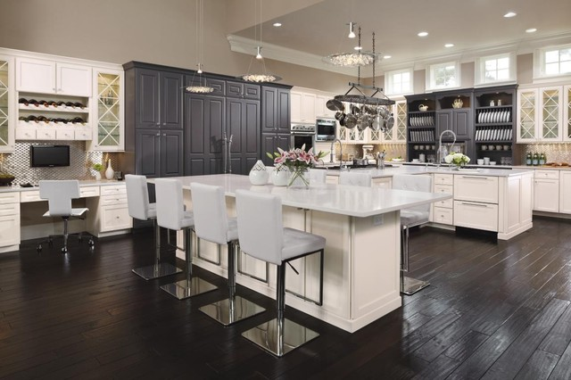 Superb Omega Cabinetry: Williamsburg Maple Oyster U0026 Pacific Maple Custom Color  Contemporary Kitchen