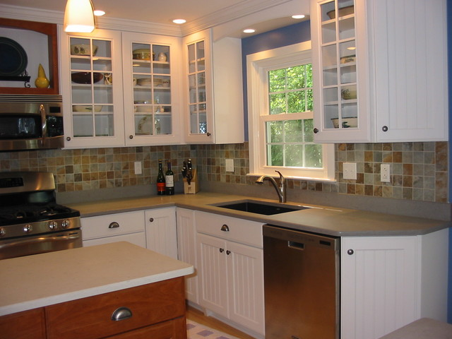 Omega Cabinets Quartz Countertop With A Honed Finish Farmhouse Kitchen