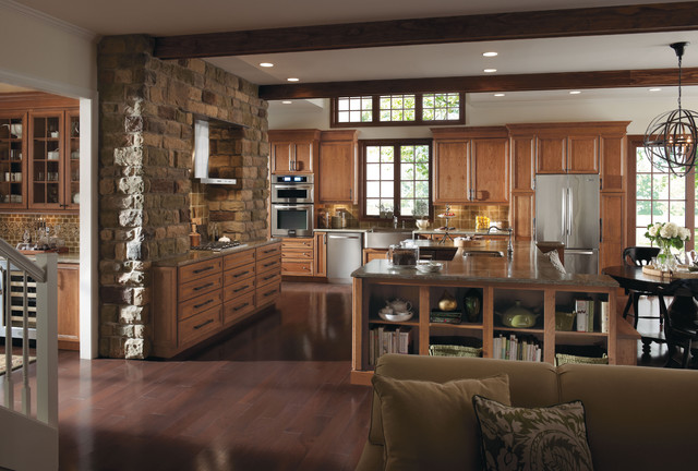 Omega Delray Kitchen Cabinets traditional-kitchen