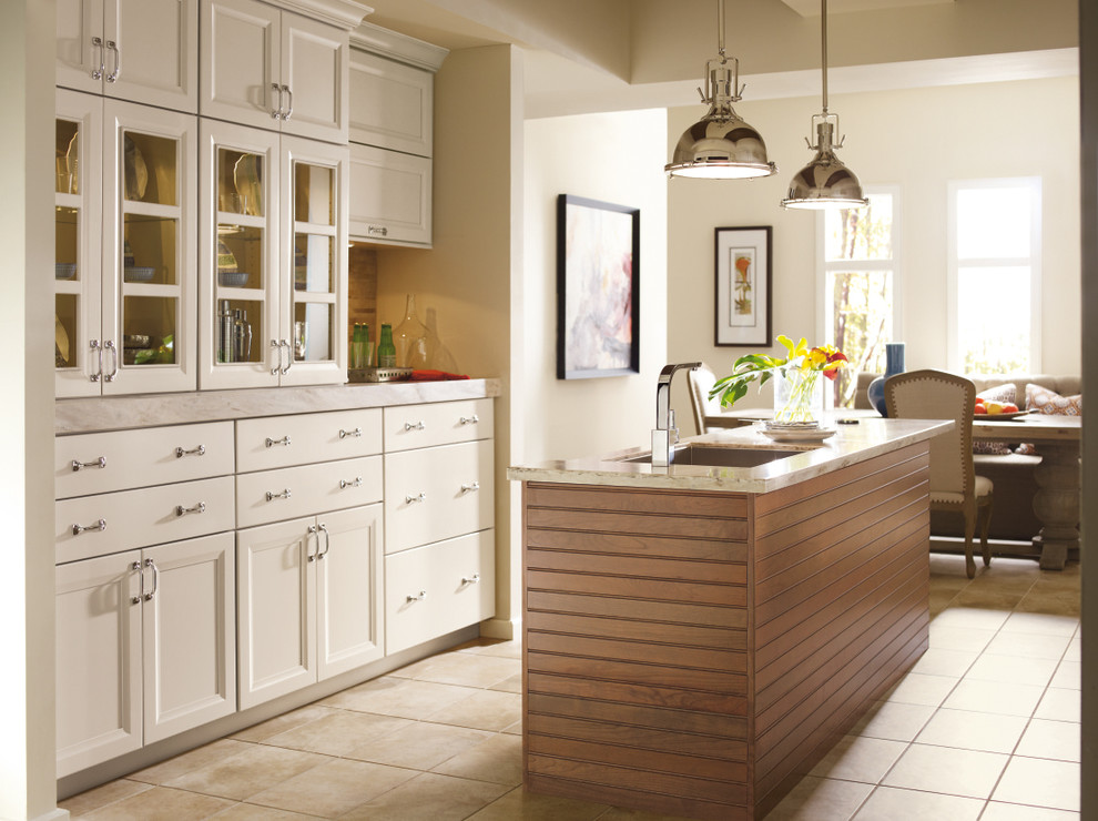 Omega White Kitchen Cabinets Modern Kitchen Other By Masterbrand Cabinets Inc