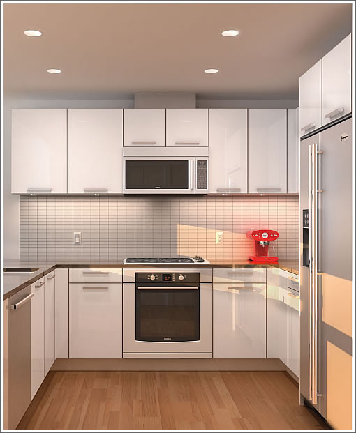 Modern Mini Kitchen Design: One Hawthorne Condominiums