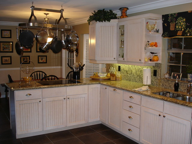 One of our first projects traditional-kitchen