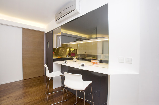 One Robinson Place - Minimalistic Design with an Artistic Touch contemporary-kitchen