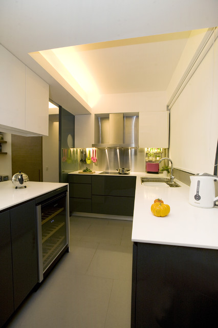One robinson place minimalistic design with an artistic touch contemporary kitchen hong Kitchen design companies hong kong