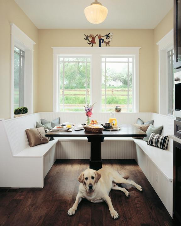Example of a cottage kitchen design in Denver