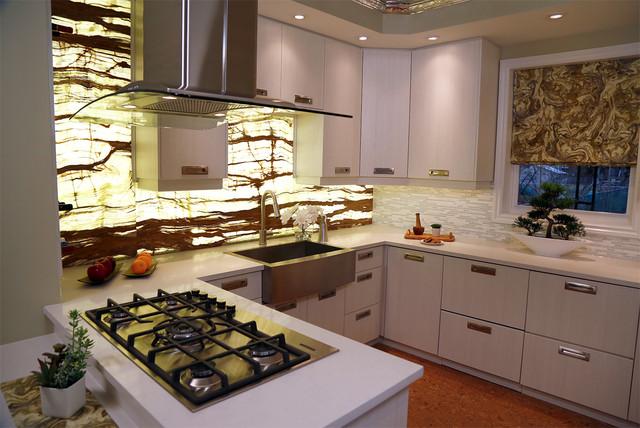 onyx backsplash kitchen contemporary kitchen toronto by paul