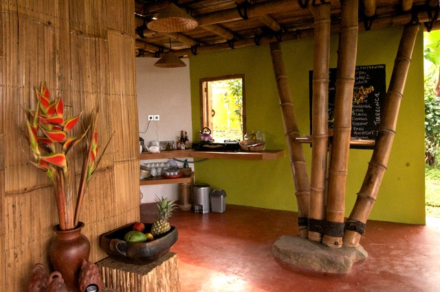 Open Air Living In The Mountains Of Bali Tropical Kitchen Adelaide By Jeni Lee