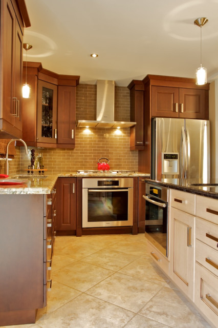 open concept traditional kitchen toronto by andros