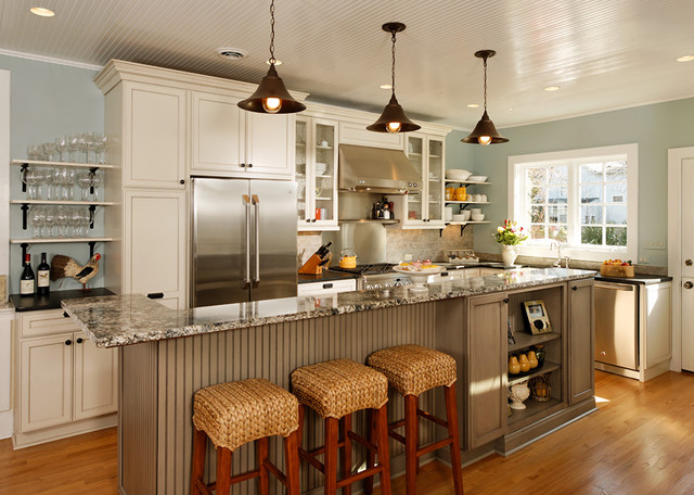 Open Concept Entertainers Kitchen Eclectic