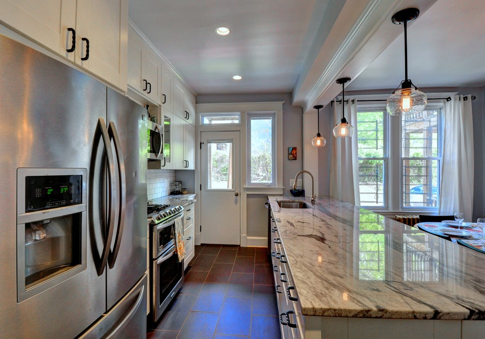 Open Concept Galley Kitchen Eclectic Dc Metro By Lisa Garcia Architecture Interior Design