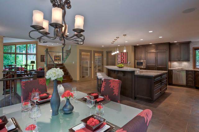 Great Room/ Dinning / Kitchen transitional-kitchen