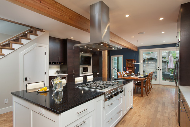 Open Concept Kitchen Dining Area Contemporary