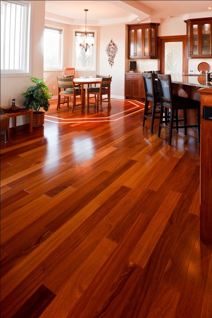 Cumaru flooring gananoque modern kitchen ottawa for Red cumaru flooring