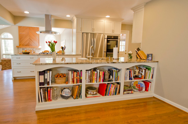 Open Concept Kitchen And Living Area Traditional