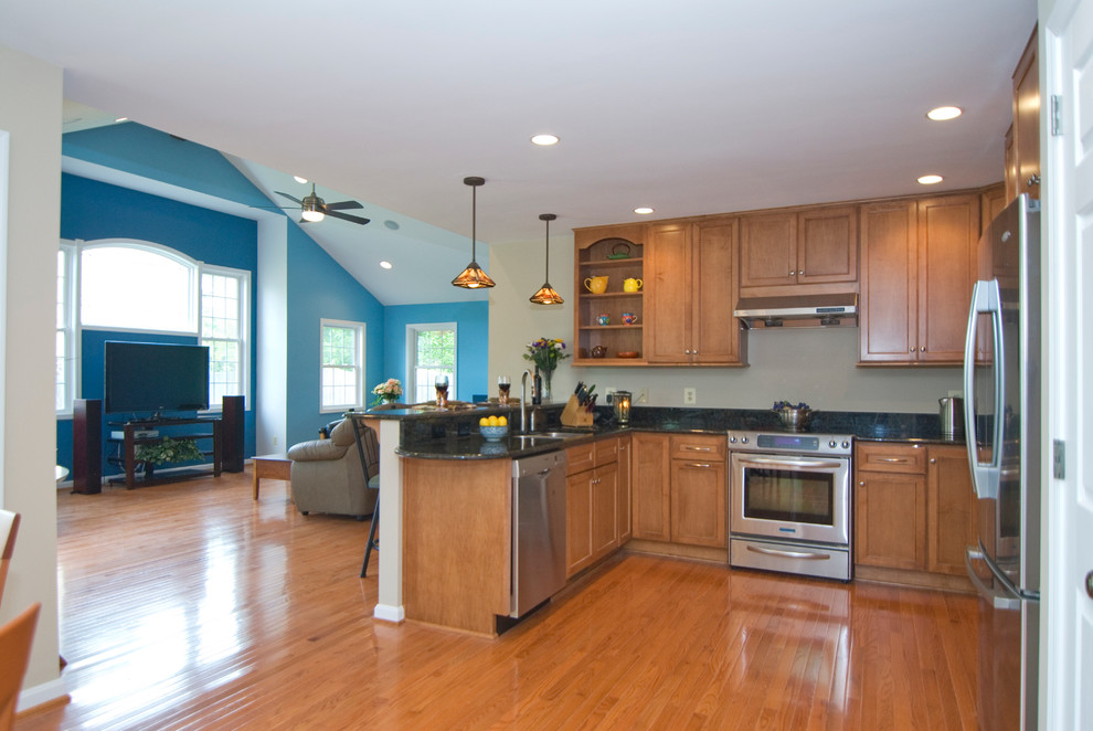 Open Concept Kitchen in McLean, VA - Traditional - Kitchen ...