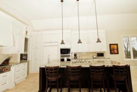 Open concept kitchen-countertops