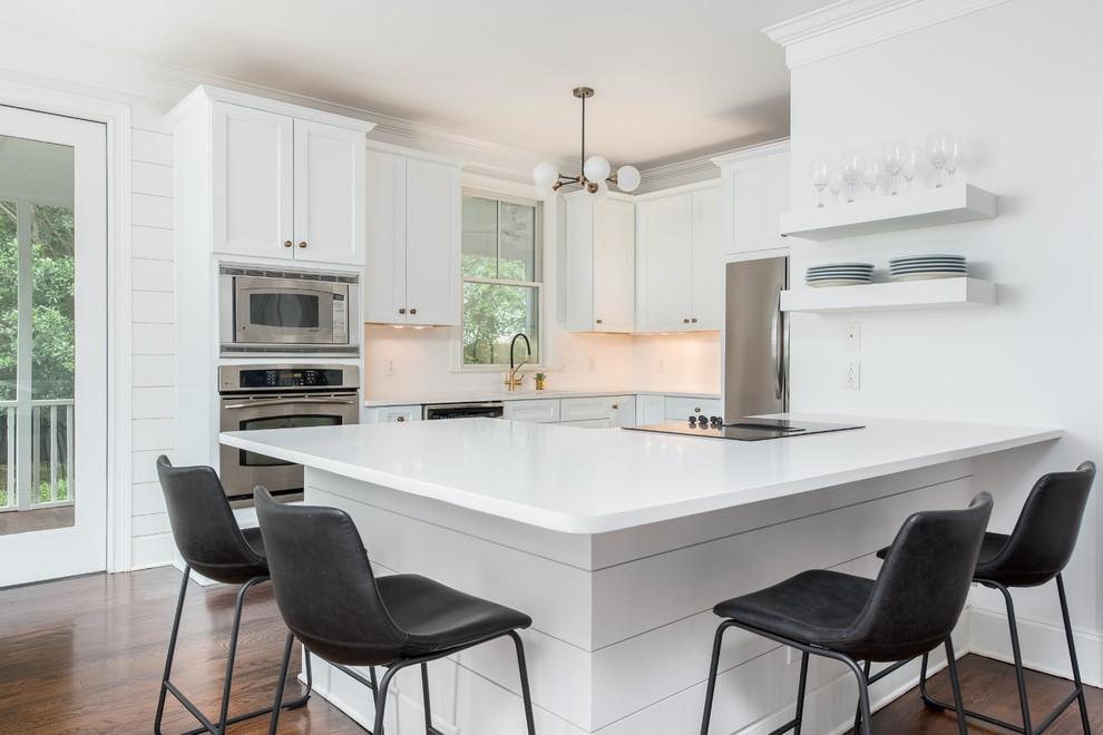Open Concept Kitchen Living Room Redesign - Modern ...