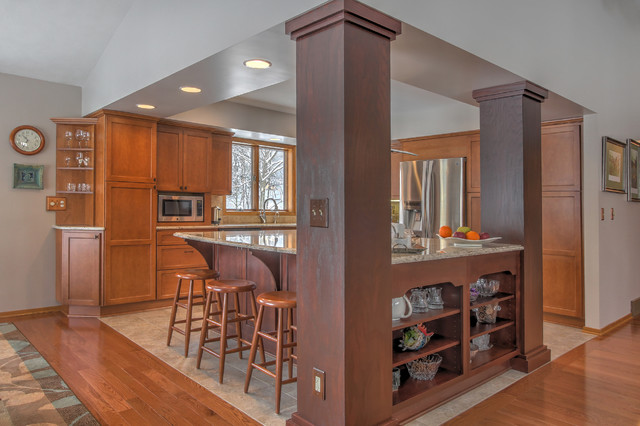 Open Concept Kitchen Traditional Kitchen Grand