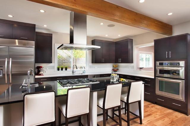 West Vancouver Suite Escape Contemporary Kitchen Vancouver By My House Design Build Team