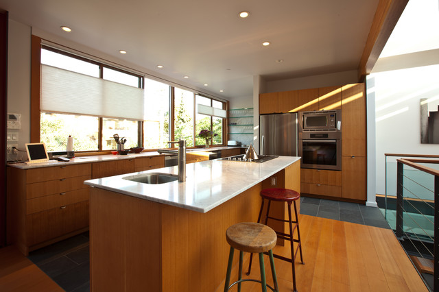 Open Concept Living Space contemporary-kitchen