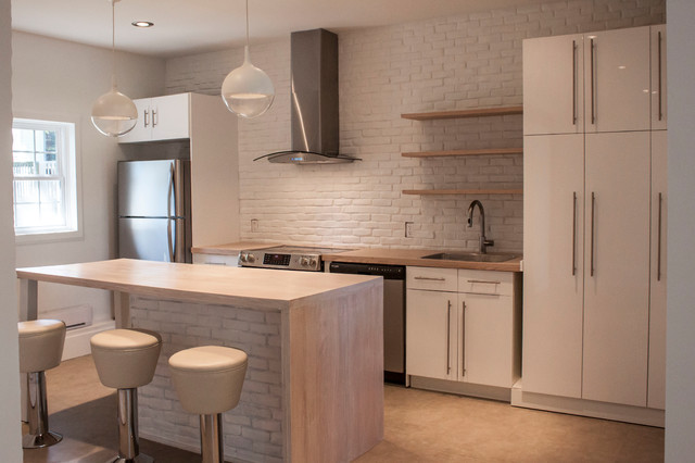 Kitchen Wallpaper furthermore Cocinas Rusticas further Stainless Steel Kitchen Shelves Ideas also Paver Stone Patio Ideas Patio Modern With Backyard Patio Concrete Fire further Awesome New York Style Apartment Interior Design. on brick kitchen design ideas
