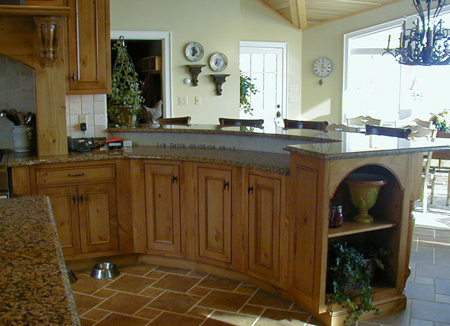 Open Concept traditional-kitchen