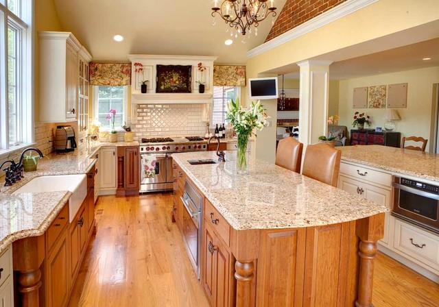 Open Concept View traditional-kitchen