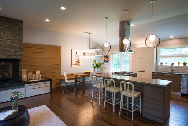 Open Floor Plan in a 1950\'s Split Level - Midcentury - Kitchen - New ...