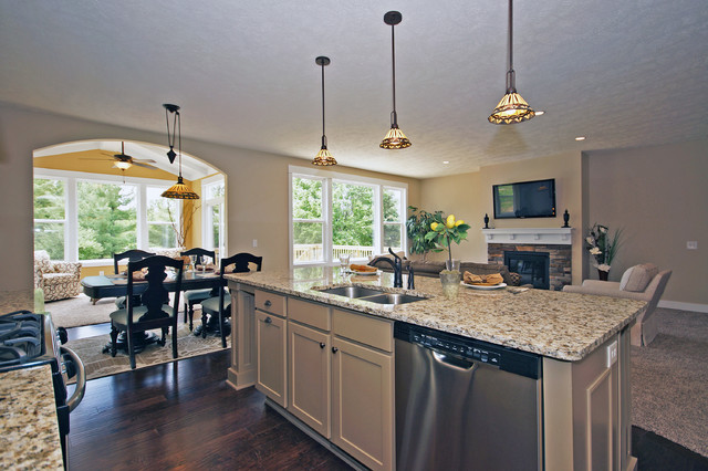 Open Floor Plan Kitchens Traditional Kitchen Grand