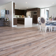 Open Floor Plan with Deep Smoked Oak Flooring in Woodland Hills