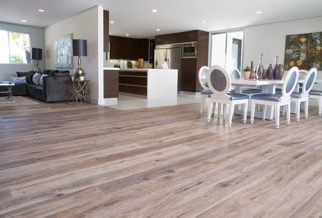 Open Floor Plan With Deep Smoked Oak Flooring In Woodland