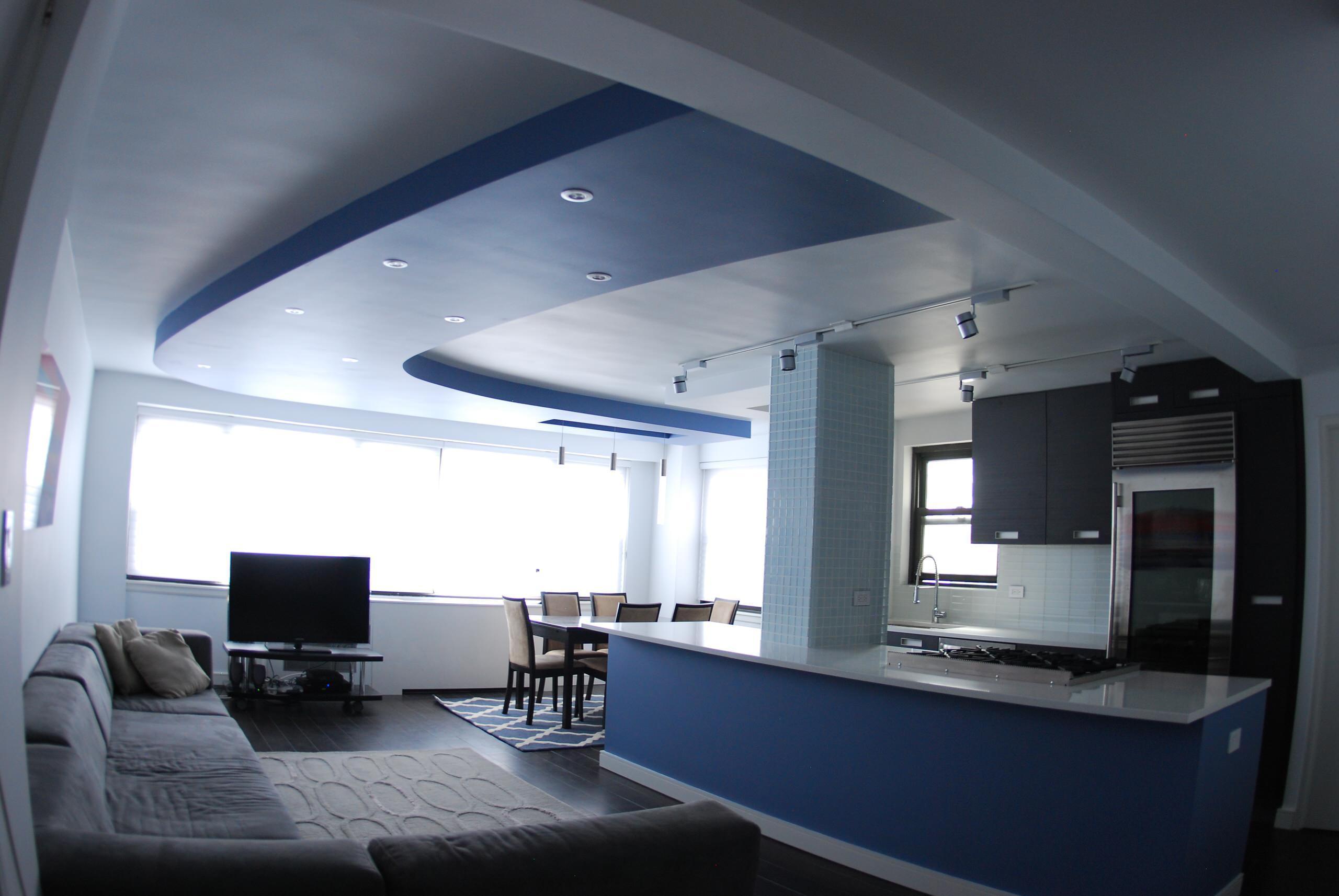 Open Kitchen - curverd ceiling element