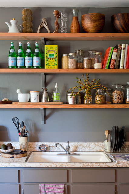 open kitchen shelves shabby chic style kitchen. beautiful ideas. Home Design Ideas