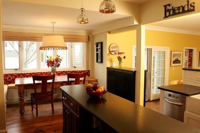 Open Kitchen to Living Space farmhouse-kitchen