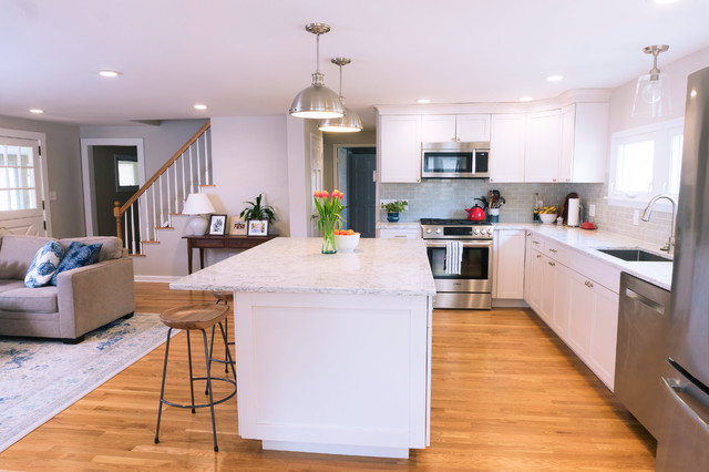 Open Kitchen W Load Bearing Wall Removal Traditional