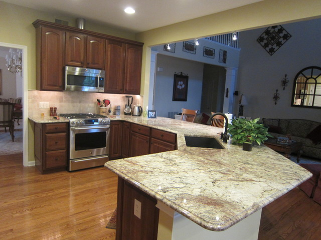 Open Layout traditional-kitchen