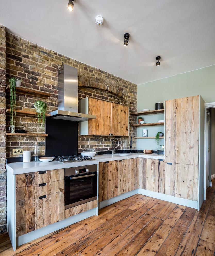 Open Plan Kitchen In Warehouse Conversion Rustic Kitchen London By Brandler London