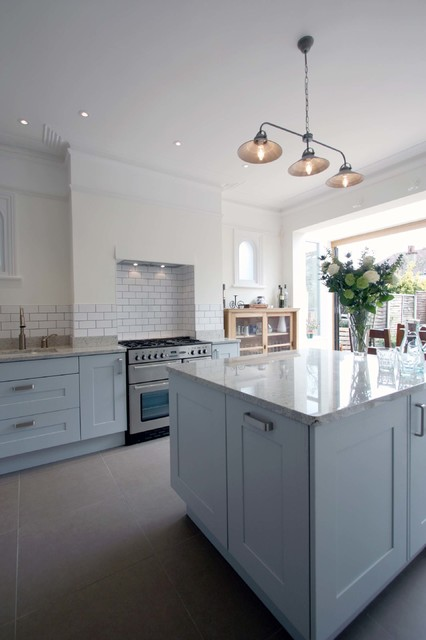 Open Plan Kitchen South West London Traditional Kitchen London By Re