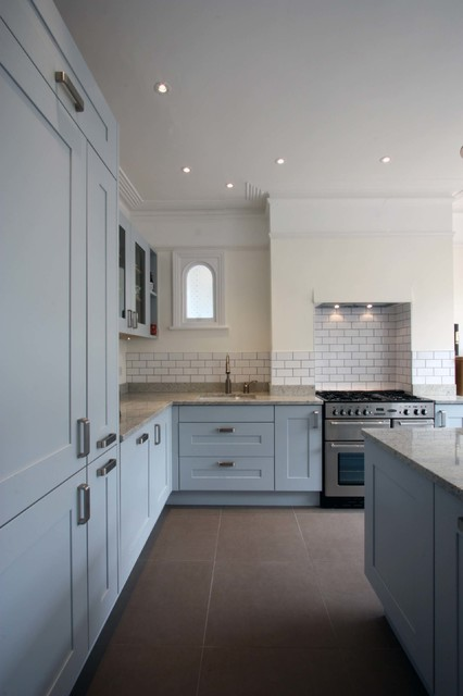 Open Plan Kitchen, South West London Traditional Kitchen