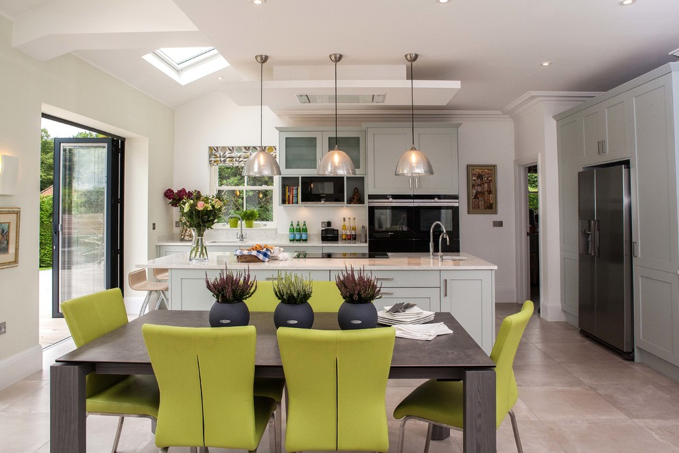 Open Plan L Shaped Kitchen Dining Living Room Diy Projects