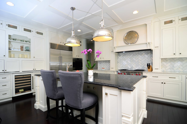 Open Plan Soft White Cabinets